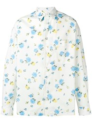 Golden Goose Deluxe Brand Anthony Floral Print Shirt White