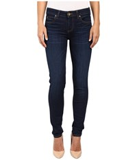 Kut From The Kloth Diana Skinny Jeans In Brightness W Dark Stone Base Wash Brightness Dark Stone Base Wash Women's Jeans Black