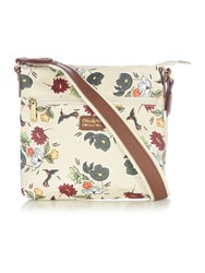 Ollie And Nic Rio Multi Coloured Zip Crossbody Bag Multi Coloured Multi Coloured