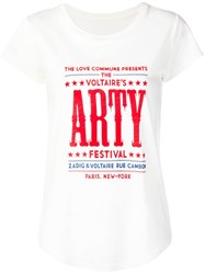 Zadig And Voltaire Skinny Festival T Shirt White