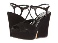 Sergio Rossi Edwige Black Suede Women's Wedge Shoes