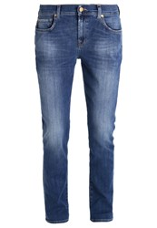 7 For All Mankind Relaxed Fit Jeans Lasered Ny Light Blue Denim
