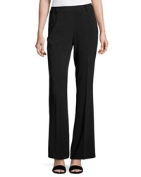 Laundry By Shelli Segal High Waist Stretch Crepe Pants Black