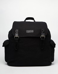 Barney's Barneys Canvas And Leather Backpack Black