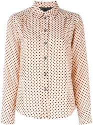 Marc By Marc Jacobs Polka Dot Print Shirt Pink And Purple