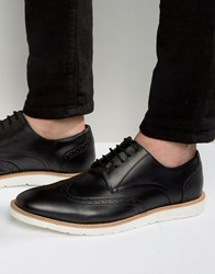 Frank Wright Brogues In Black Leather Black