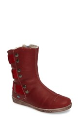 Cloud Women's Amber Wool Lined Bootie Red Leather