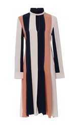 Derek Lam Long Sleeve Colorblock Dress Stripe