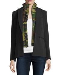 Veronica Beard Kuma Quilted Camo Bomber Dickey Army Green