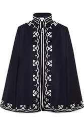 Vilshenko Ruby Embroidered Wool Cape