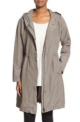 Women's Eileen Fisher Hooded Long Jacket Smoke
