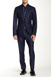 Tiger Of Sweden Blue Two Button Peak Lapel Wool Suit