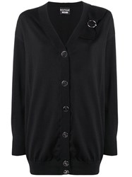 Boutique Moschino Loose Fitting Cardigan Black