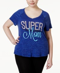 Ideology Plus Size Super Mommy And Me Graphic T Shirt Only At Macy's Blazing Purple