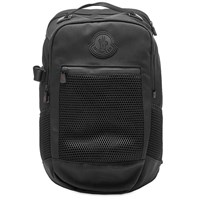 Moncler Canvas And Mesh Hiking Backpack Black