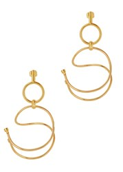 Paula Mendoza Gu One 24Kt Gold Plated Earrings