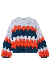 The Knitter Ugly Intarsia Wool Sweater Blue