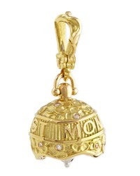 18K 3 Best Mom Ever Meditation Bell Pendant Paul Morelli Red