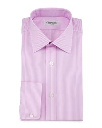Charvet Striped Barrel Cuff Dress Shirt Pink Blue Women's