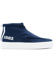 Joshua Sanders 1982 Hi Top Sneakers Blue