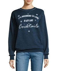 Signorelli A Lot Like Cocktails Sweatshirt Navy