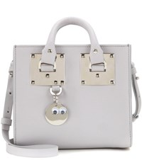 Sophie Hulme Box Albion Leather Shoulder Bag Grey