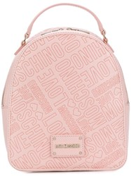Love Moschino Embossed Logo Mini Backpack Pink And Purple