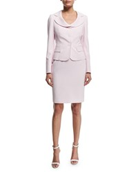 Albert Nipon Seersucker Jacket And Dress Set Pink Blush White Pink Blush White