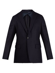 Kilgour Notch Lapel Wool Blazer Navy