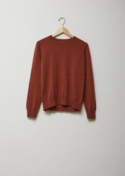 Margaret Howell Simple Crew Neck Cashmere Sweater Marron