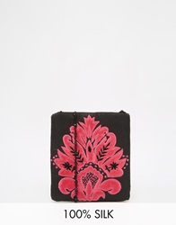Moyna Across Body Bag In Black With Pink Embroidery Blackfushia