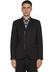 Dsquared Zip Up Wool Cady Jacket Black