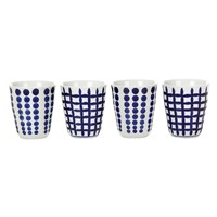 Pols Potten Bold Cups Set Of 4