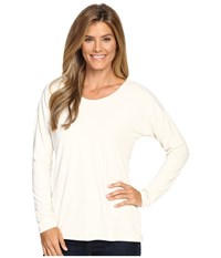 Exofficio Wanderlux Ballet Neck Vellum Women's Long Sleeve Pullover White