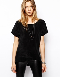 2Nd Day Asha Woven Shell Top In Silk Black