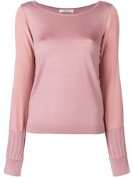 Dorothee Schumacher Ribbed Cuff Jumper Pink And Purple