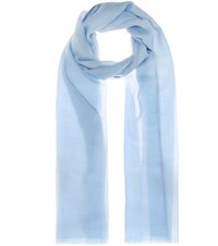 Loro Piana Fil And Fil Cashmere Scarf Blue