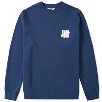Undefeated Chest Strike Crew Sweat Blue