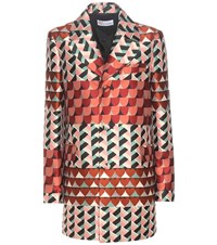 Red Valentino Jacquard Coat Multicoloured
