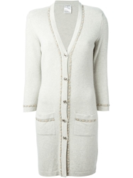 Chanel Vintage Beaded Flower Trim Cardigan