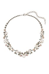 Sorrelli Multicolor Crystal Statement Necklace Green