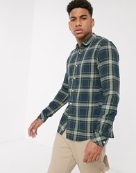Tom Tailor Check Shirt In Green