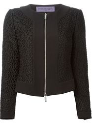 Emanuel Ungaro Flower Knit Jacket Black