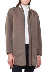 Akris Punto Women's Techno Bomber Coat Taupe