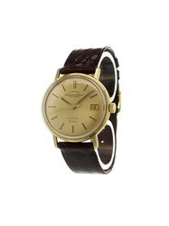 Iwc 'Chronometer Automatic De Luxe' Analog Watch Gold