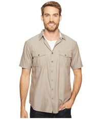 Ecoths Mathis Short Sleeve Shirt Brindle Men's Short Sleeve Button Up Brown