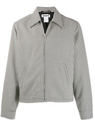 Hope Zip Up Houndstooth Shirt Jacket 60