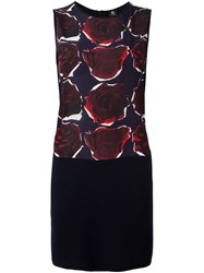 Paul Smith Ps By Rose Print Sleeveless Dress Blue