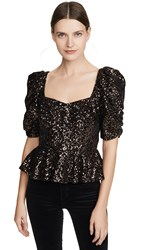 Amanda Uprichard Natasha Sequin Top Copper