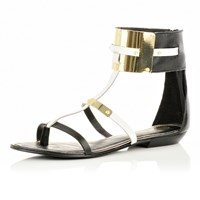 River Island Womens Black Ankle Cuff Sandals